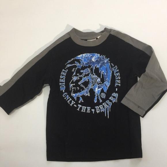 Diesel boy's long sleeve tee shirt